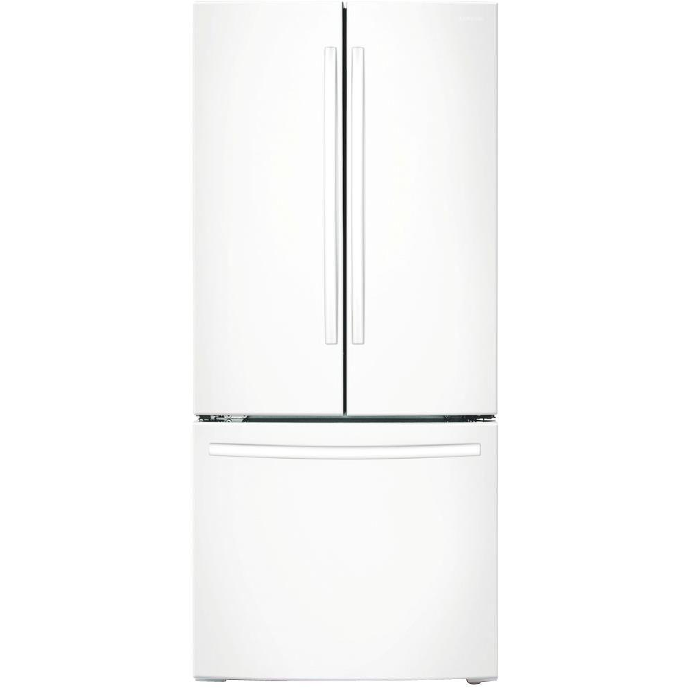 samsung refrigerator 33 in w 17 5 cu ft french door refrigerator in white counter depth. Black Bedroom Furniture Sets. Home Design Ideas