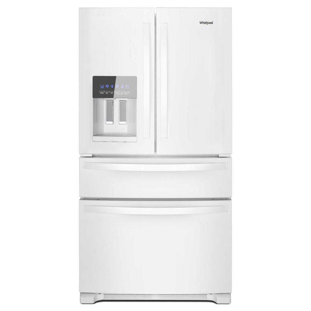 French Door Refrigerator In White