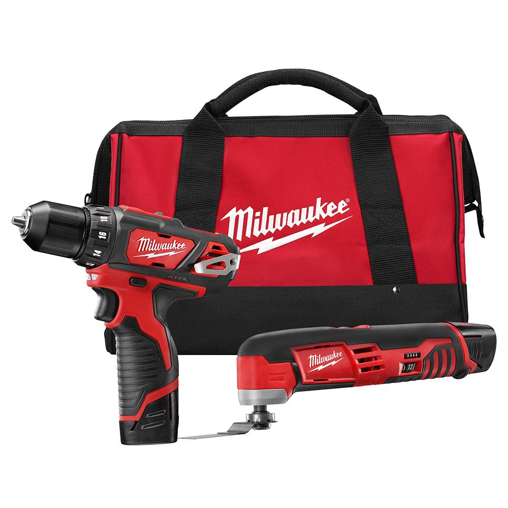 Milwaukee M12 12-Volt Lithium-Ion Cordless Drill Driver/Multi-Tool Combo Kit (2-Tool)