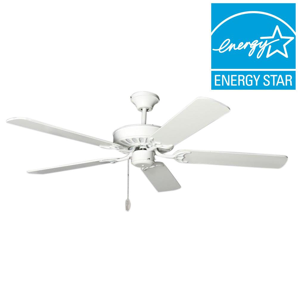 TroposAir ProSeries Builder 52 in. Pure White Indoor Ceiling Fan-88800 -