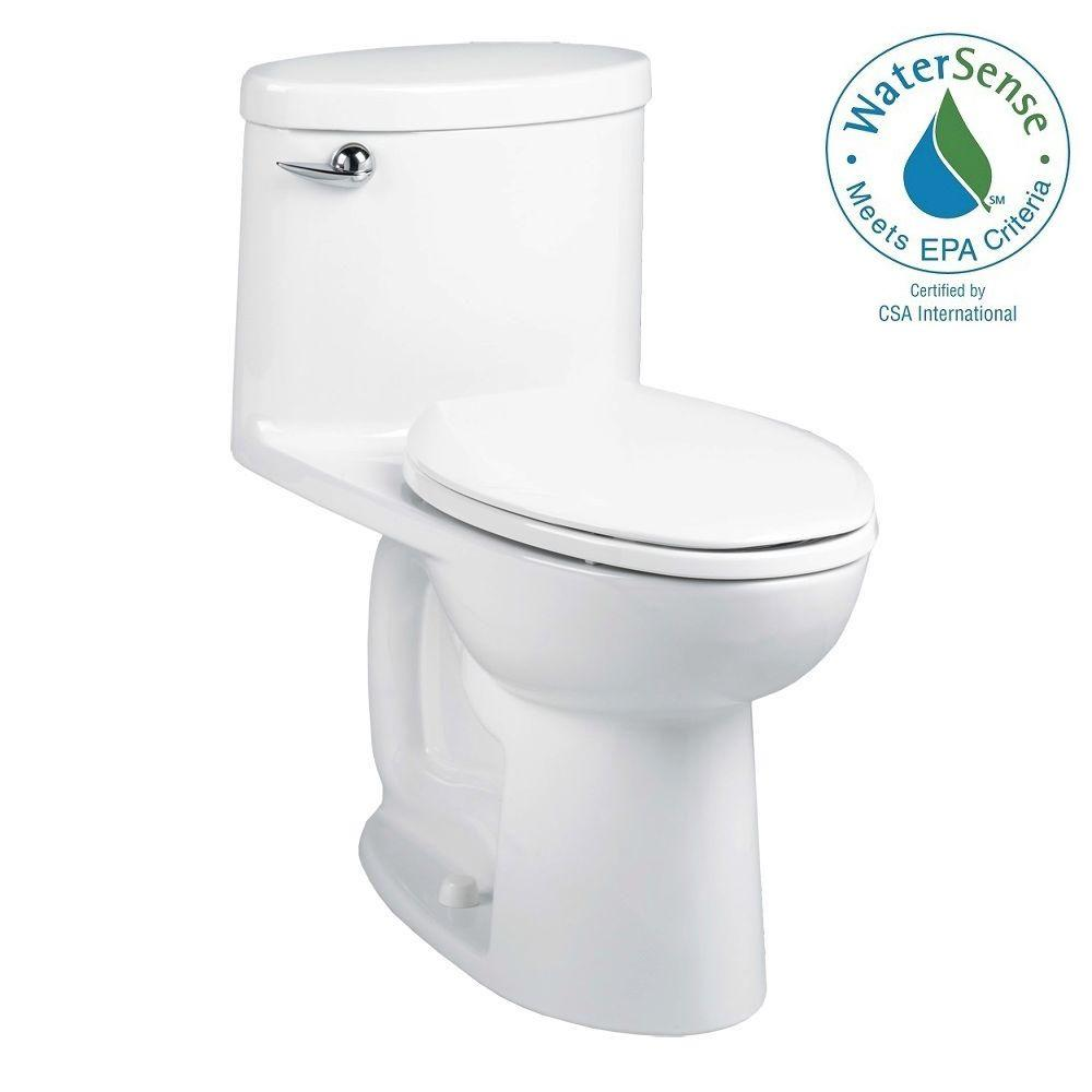 American Standard Cadet 3 Ovation 1-piece 1.28 GPF High-Efficiency Tall Height Single Flush Elongated Toilet in White
