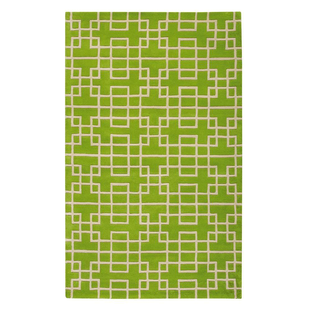 Home Decorators Collection Downtown Green 8 ft. x 11 ft. Area Rug