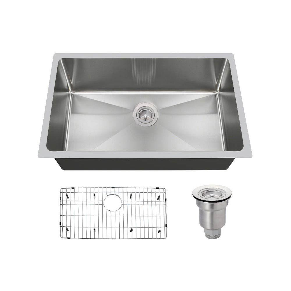 MR Direct All-in-One Undermount Stainless Steel 31 in. Single Bowl Kitchen