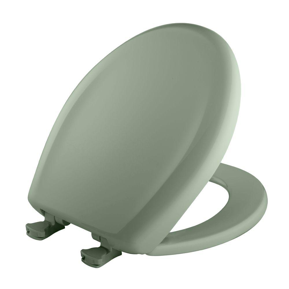 Round Closed Front Toilet Seat in Aspen Green
