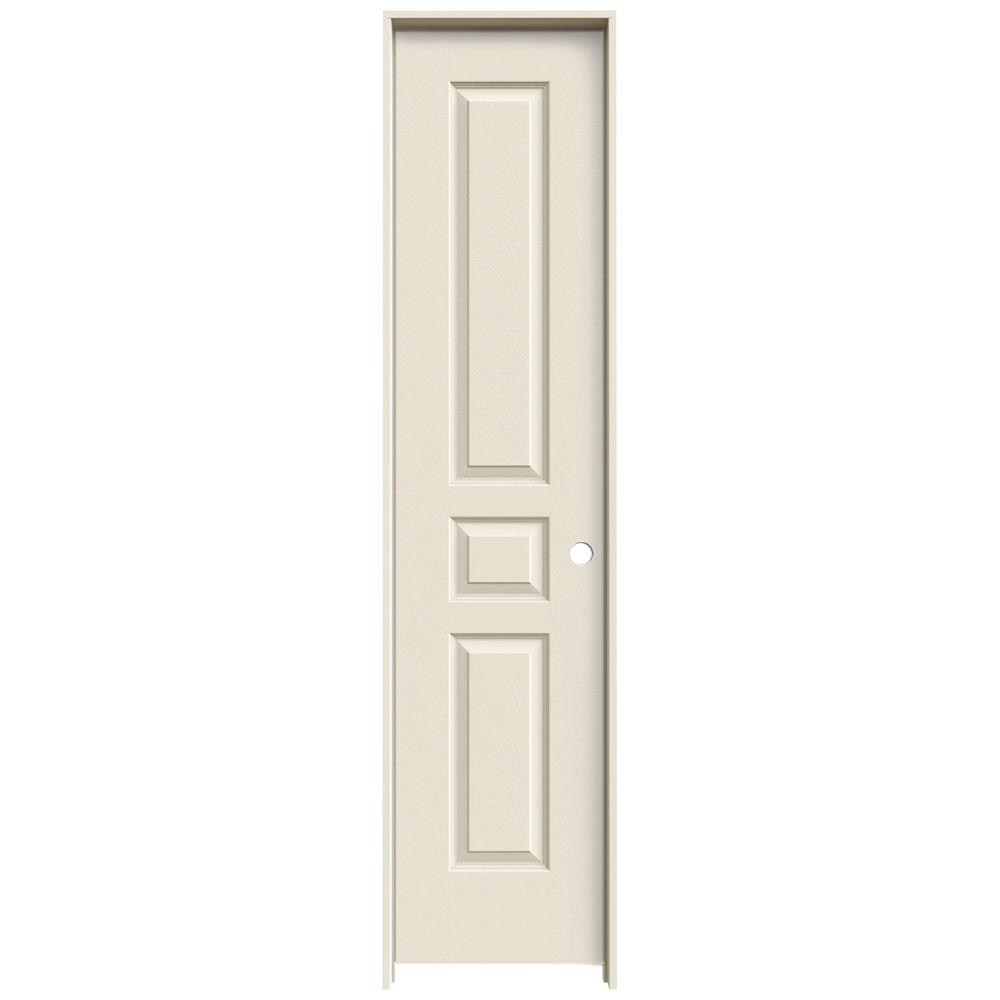 Krosswood Doors 18 In X 80 In Craftsman Shaker Primed Mdf 3 Panel Right Hand Single Prehung