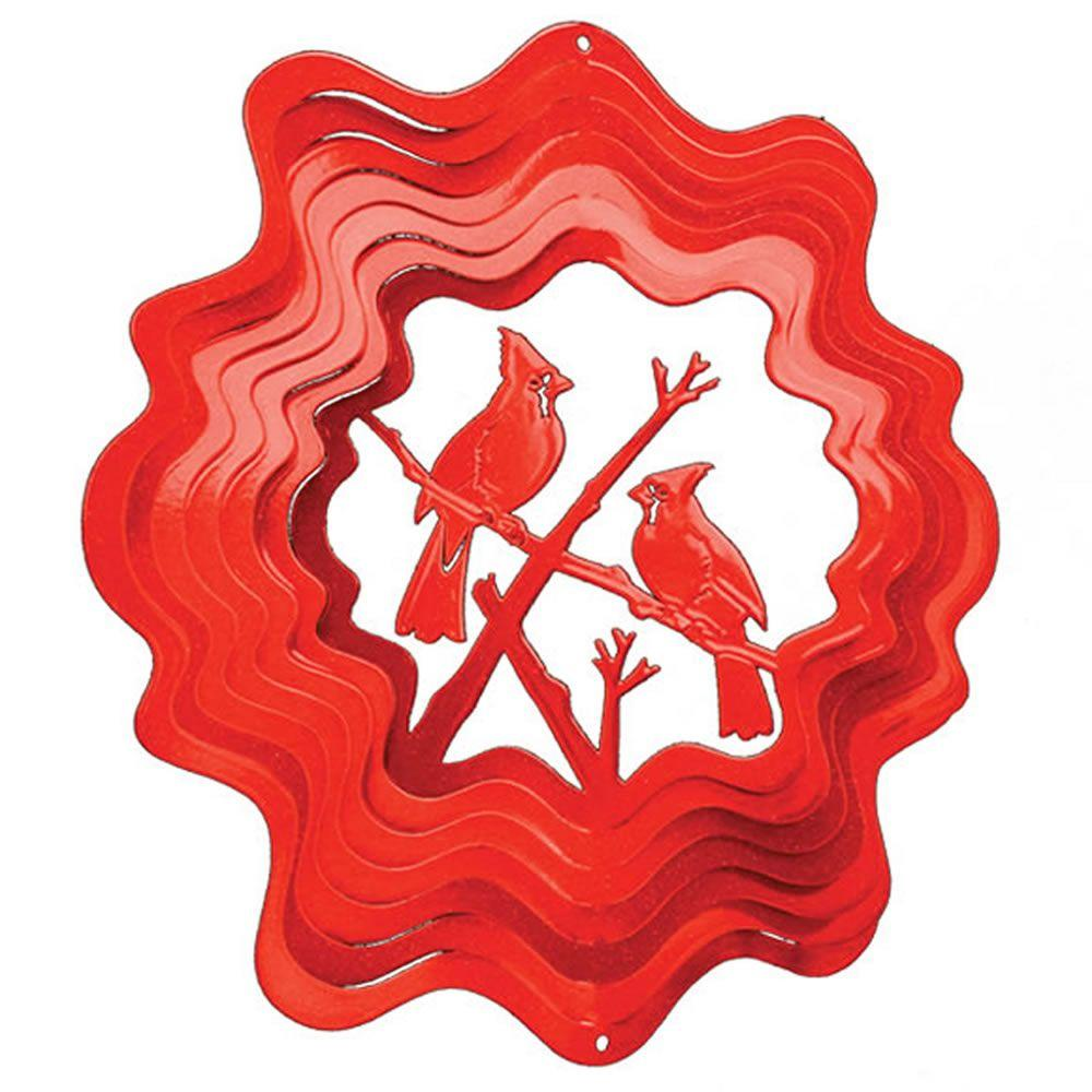 Iron Stop Large Red Cardinal Wind Spinner-DISCONTINUED