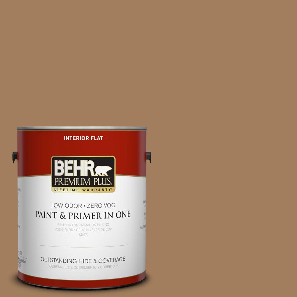 BEHR Premium Plus 1-gal. #N250-5 Ancient Pottery Flat Interior Paint