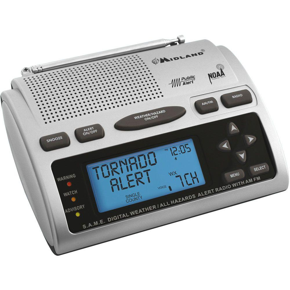 Midland 23 Code S.A.M.E. Weather Alert Radio-WR-300 - The Home Depot