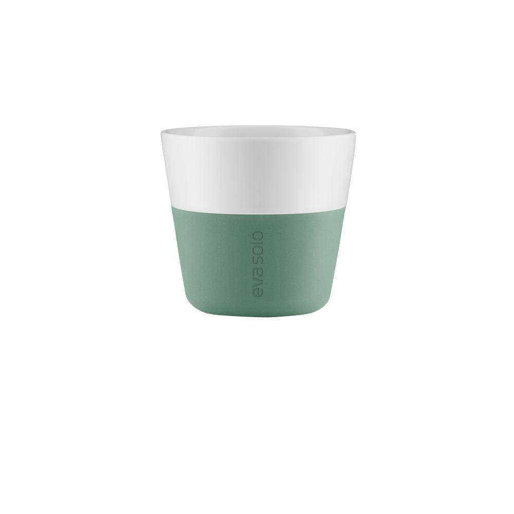 7 oz. Porcelain Lungo Tumbler with Silicone Sheath in Granite Green,