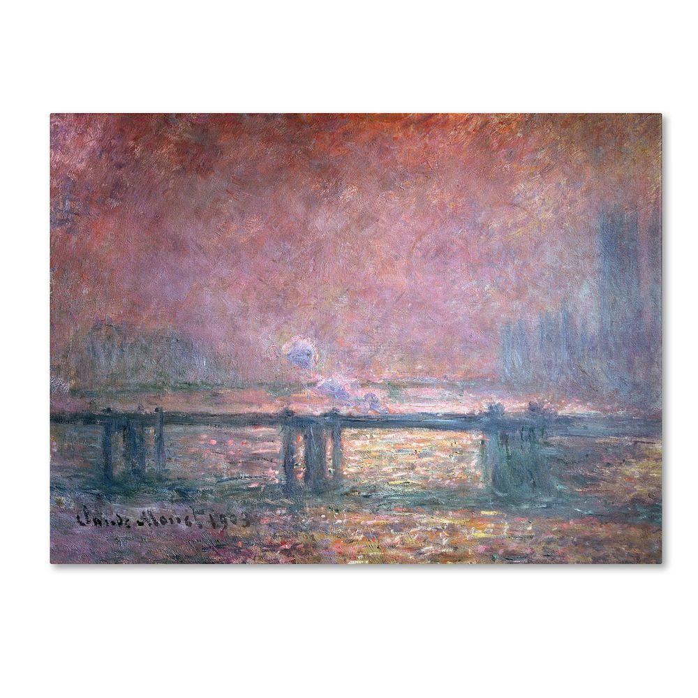 18 in. x 24 in. The Thames at Charing Cross Canvas