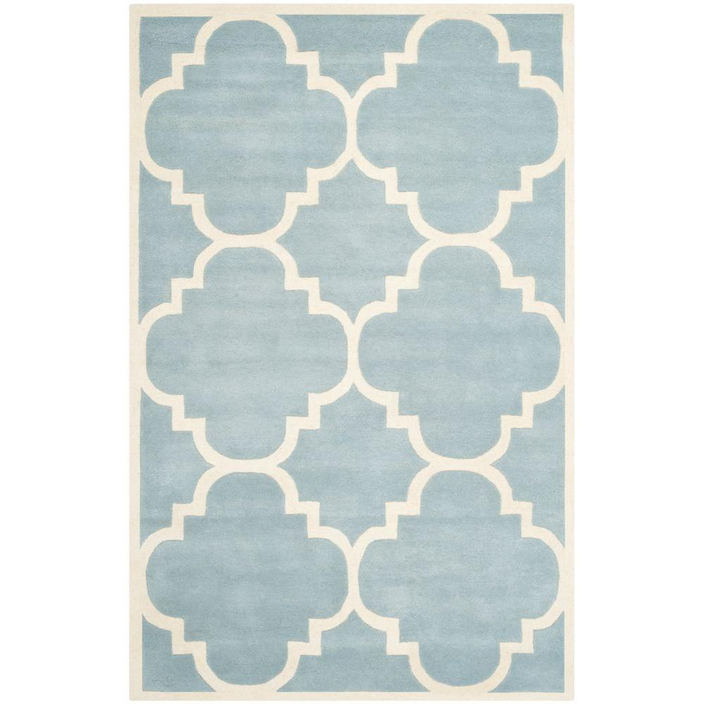 Safavieh Chatham Blue/Ivory 5 ft. x 8 ft. Area Rug-CHT730B-5 -