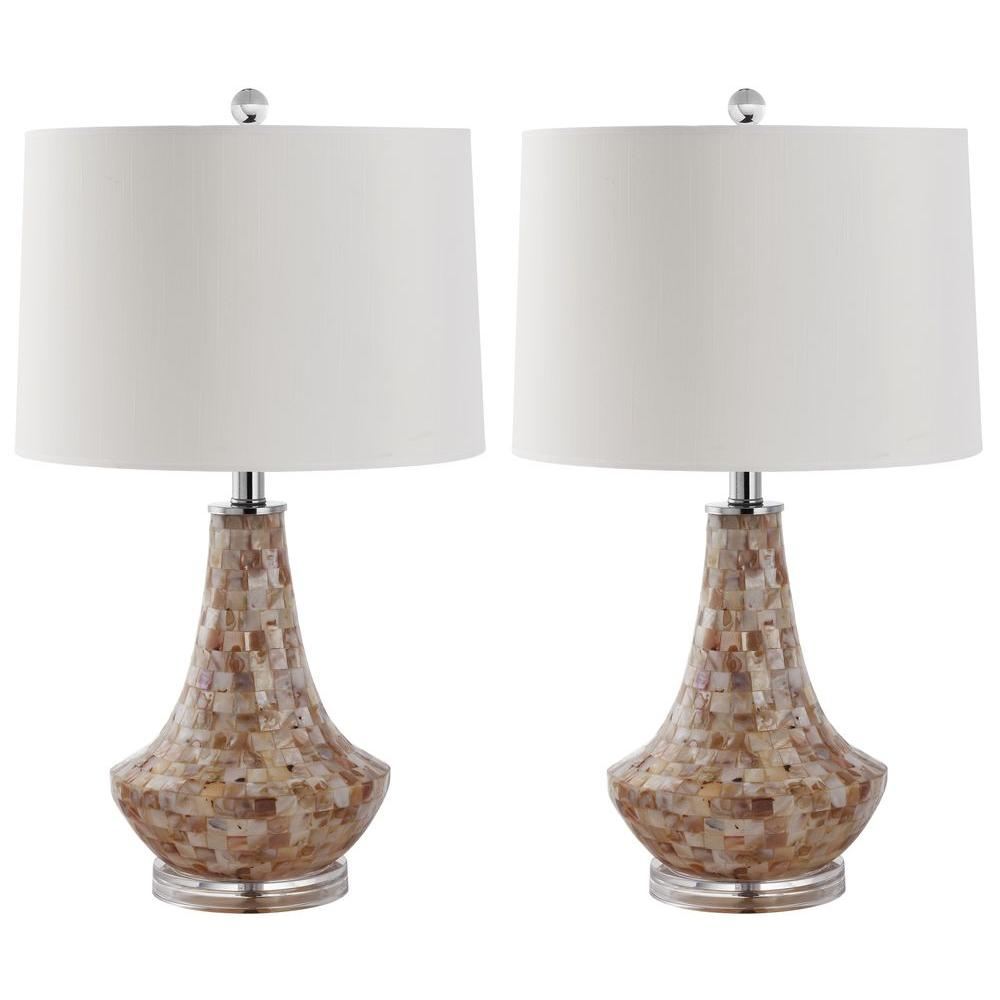 Kobe 24 in. Shell Table Lamp (Set of 2)