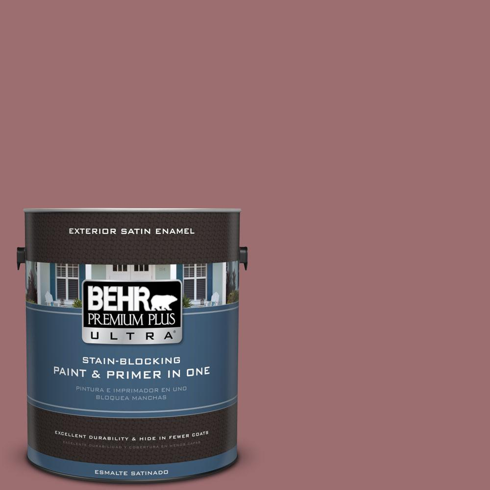 1-gal. #150F-5 Mulled Wine Satin Enamel Exterior Paint