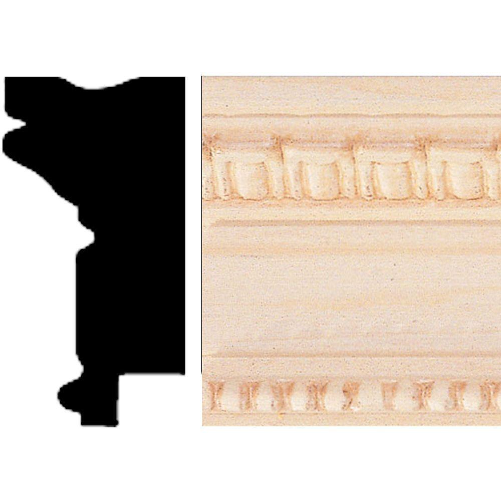 House of Fara 1 in. x 1-7/8 in. x 96 in. Hardwood Emboss Picture Frame Moulding
