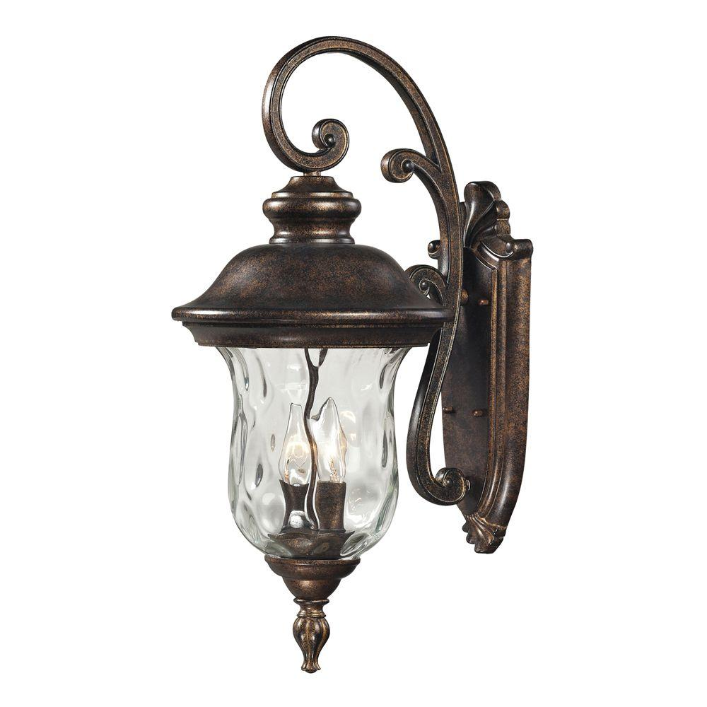 Titan Lighting Lafayette 3-Light Regal Bronze Outdoor Sconce-TN-8365 - The Home