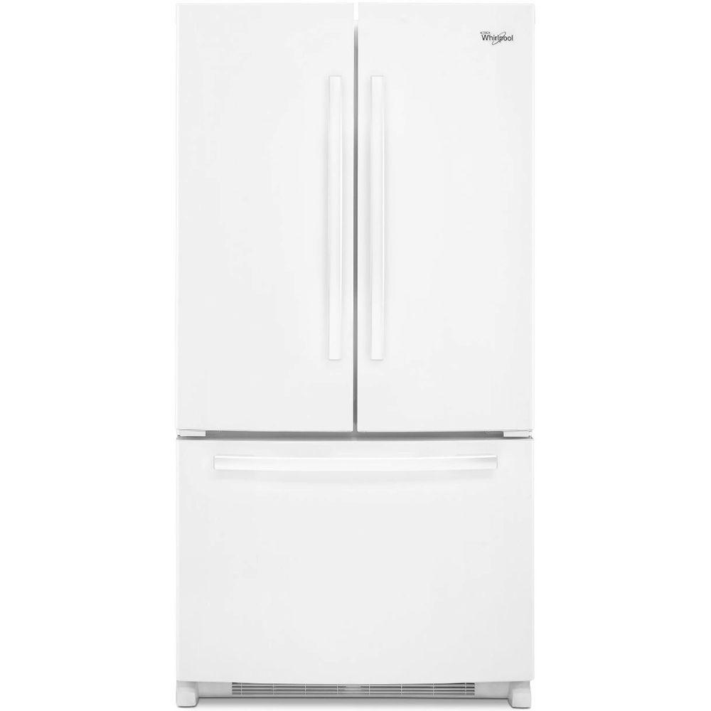 amana 21 2 cu ft side by side refrigerator in white asi2275frw the home depot. Black Bedroom Furniture Sets. Home Design Ideas
