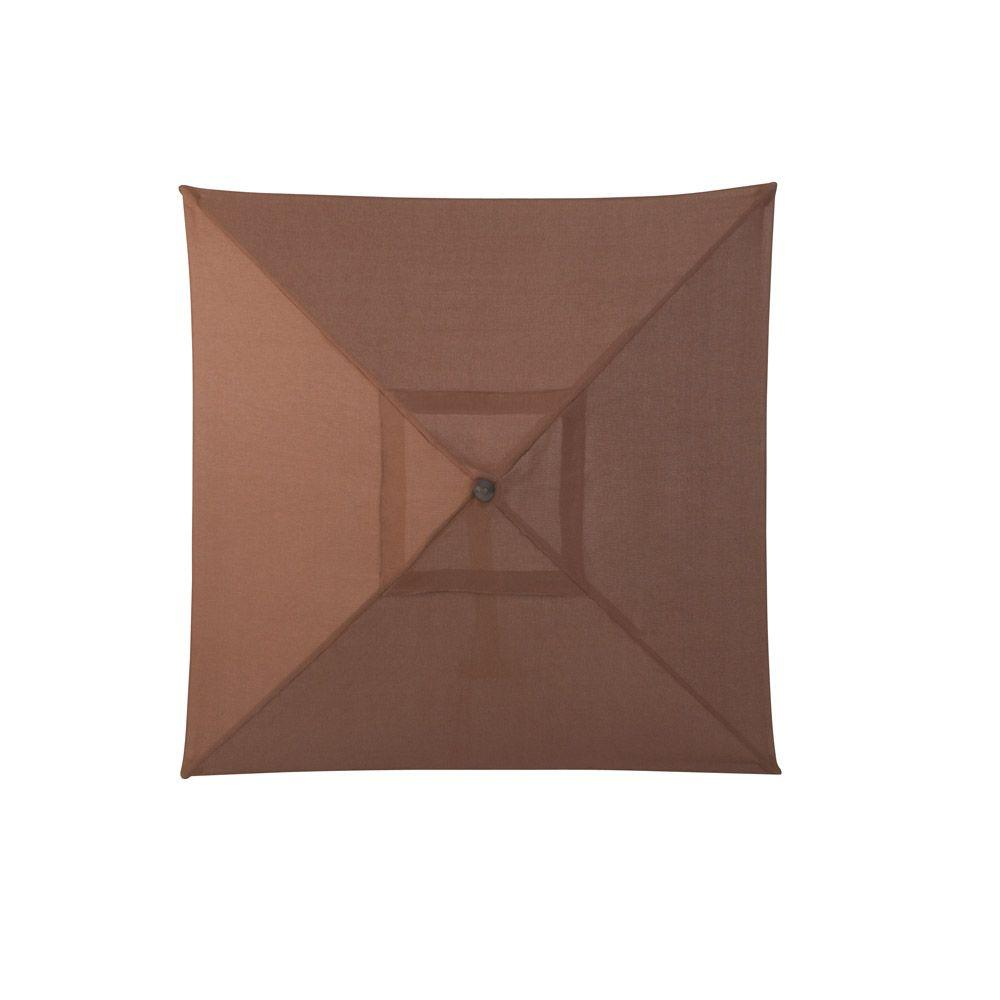 Martha Stewart Living Sea Bright 9 ft. Patio Umbrella in Brown-DISCONTINUED