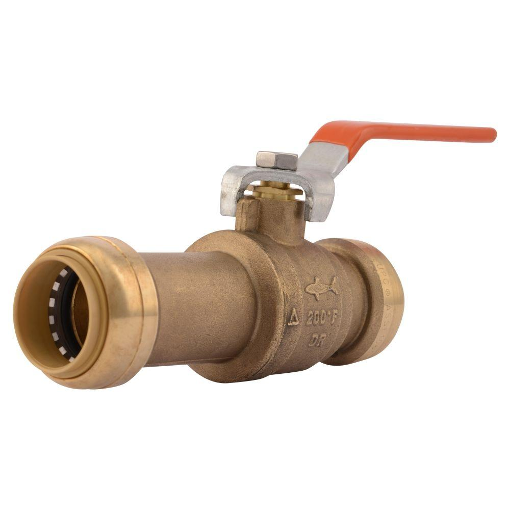 1 in. Brass Push-to-Connect Slip Ball Valve