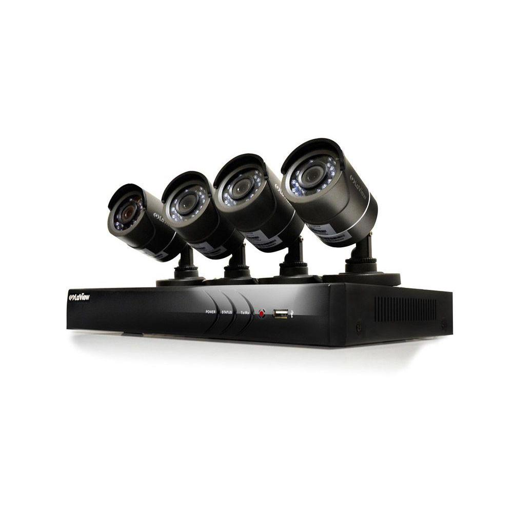 4-Channel HD 1TB HDD Indoor/Outdoor Surveillance System and (4) 720P Camera