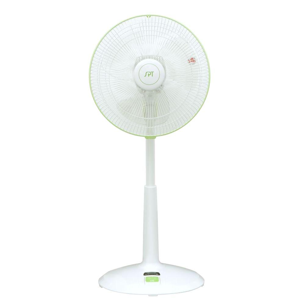 DC-Motor 3-Speed Adjustable-Height 14 in. Oscillating Pedestal Energy Saving Fan