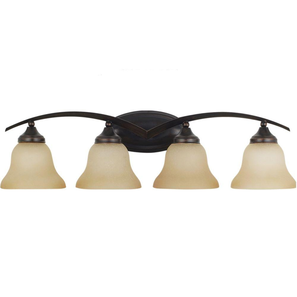 Sea Gull Lighting Brockton 4-Light Burnt Sienna Vanity Light
