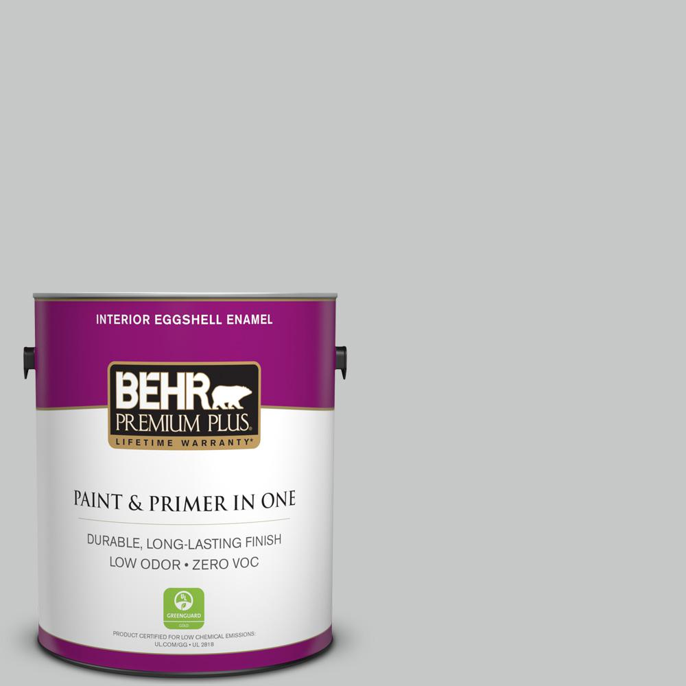 1-gal. #BNC-07 Frosted Silver Eggshell Enamel Interior Paint