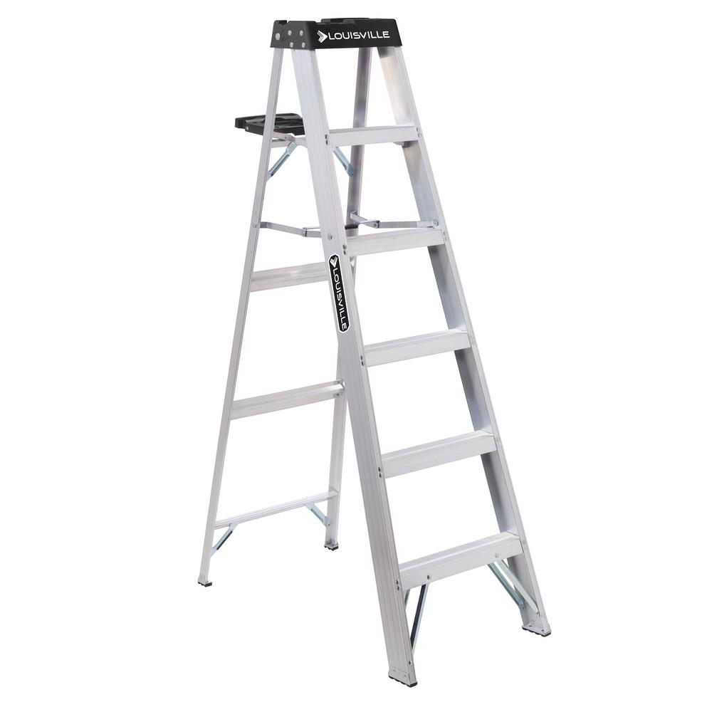 6 ft. Aluminum Step Ladder with 300 lbs. Load Capacity Type