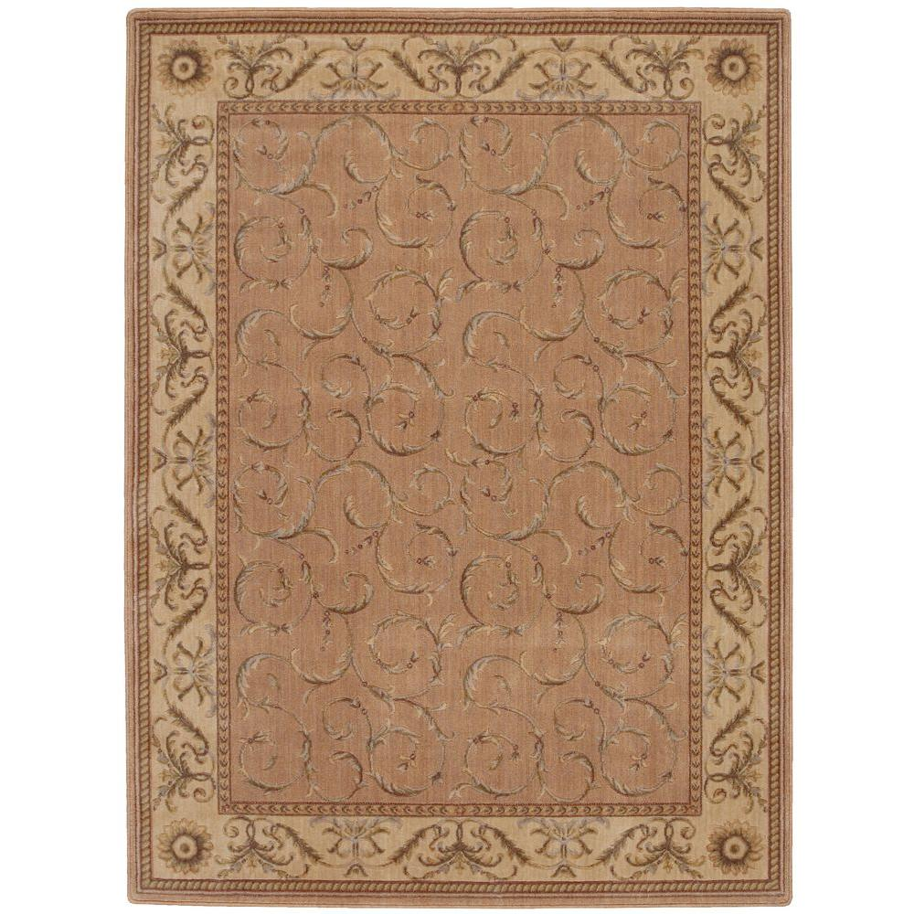 Nourison Scrollwork Peach 5 ft. 3 in. x 7 ft. 5 in. Area Rug
