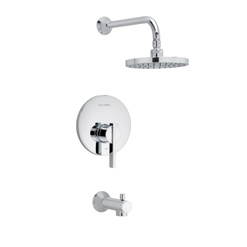 Berwick 1-Handle Tub and Shower Faucet Trim Kit with Rain Showerhead