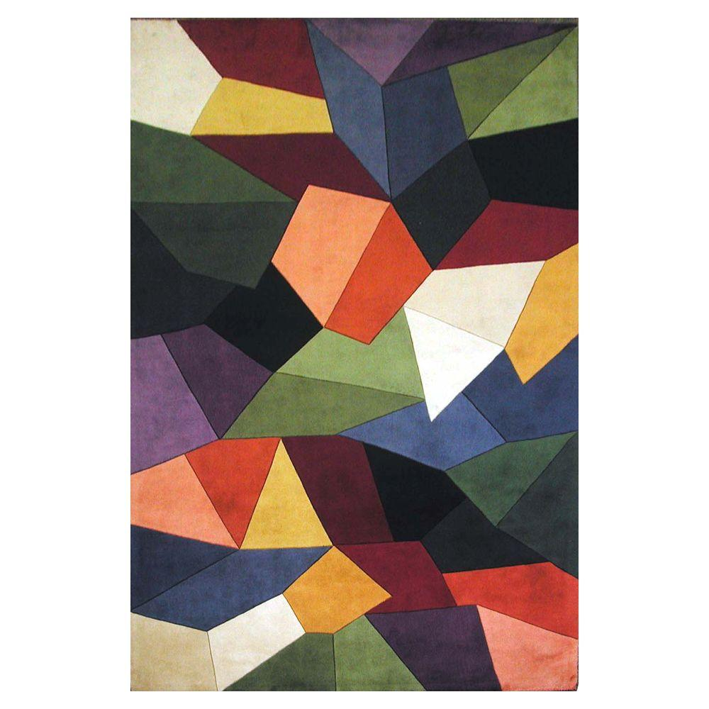 Kas Rugs Multi Prisms Multi 3 ft. 6 in. x 5 ft. 6 in. Area Rug