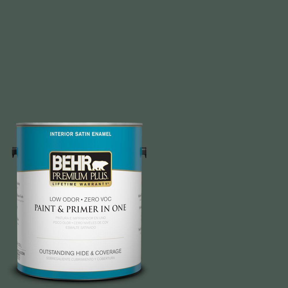 1-gal. #S420-7 Secluded Woods Satin Enamel Interior Paint