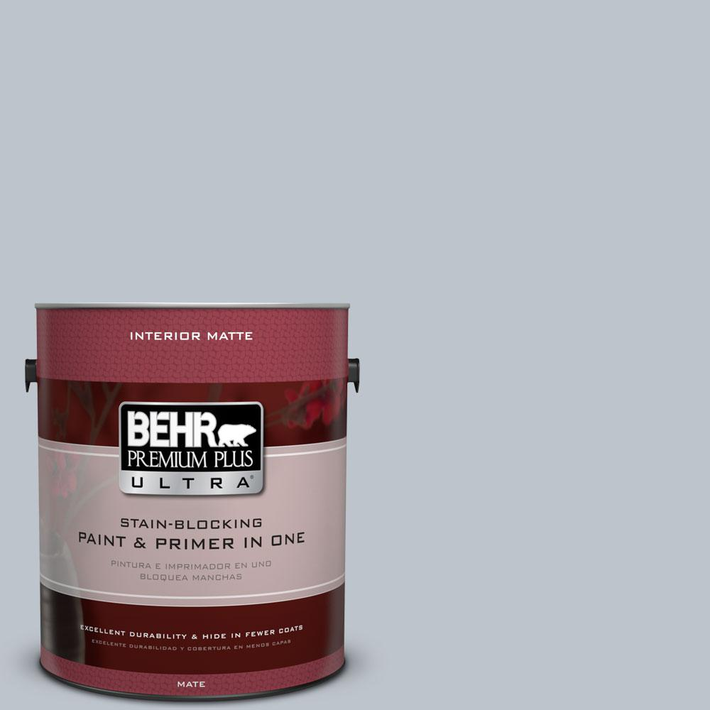 1 gal. #N490-2 Icicles Matte Interior Paint