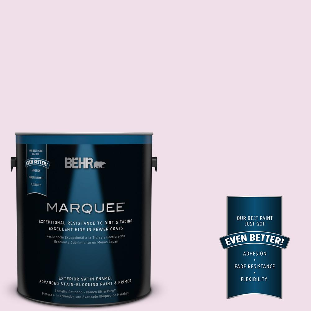 BEHR MARQUEE 1-gal. #M120-1 Pink Proposal Satin Enamel Exterior Paint