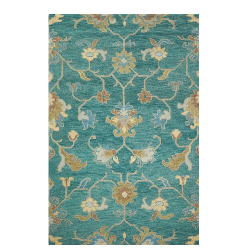 Home Decorators Collection Montpellier Teal 3 ft. x 5 ft. Area