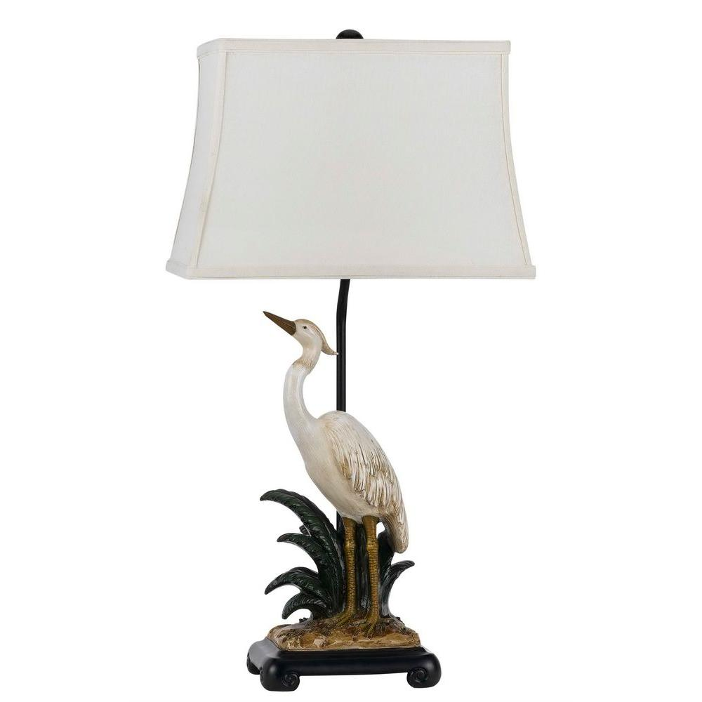 CAL Lighting 30.5 in. Pearl White/Clay Glass Table Lamp