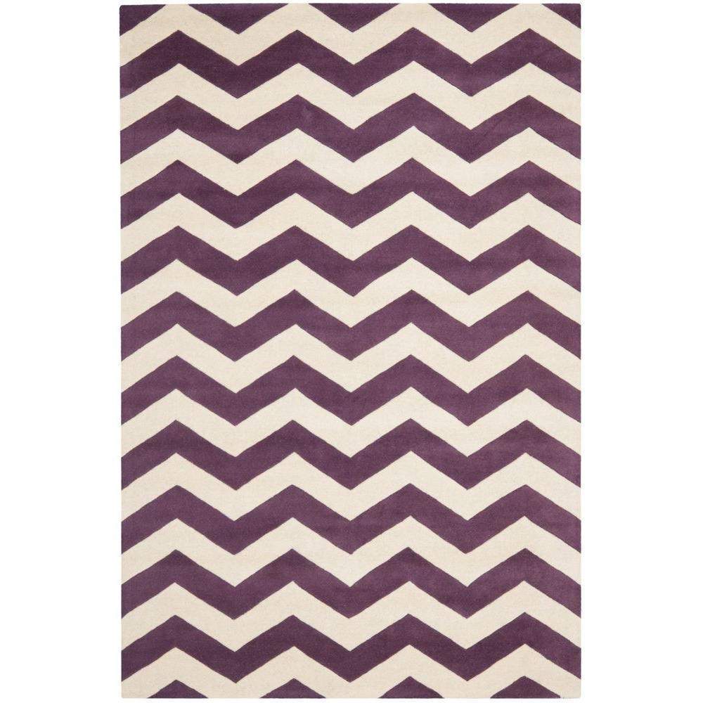 Safavieh Chatham Purple/Ivory 5 ft. x 8 ft. Area Rug-CHT715F-5 -