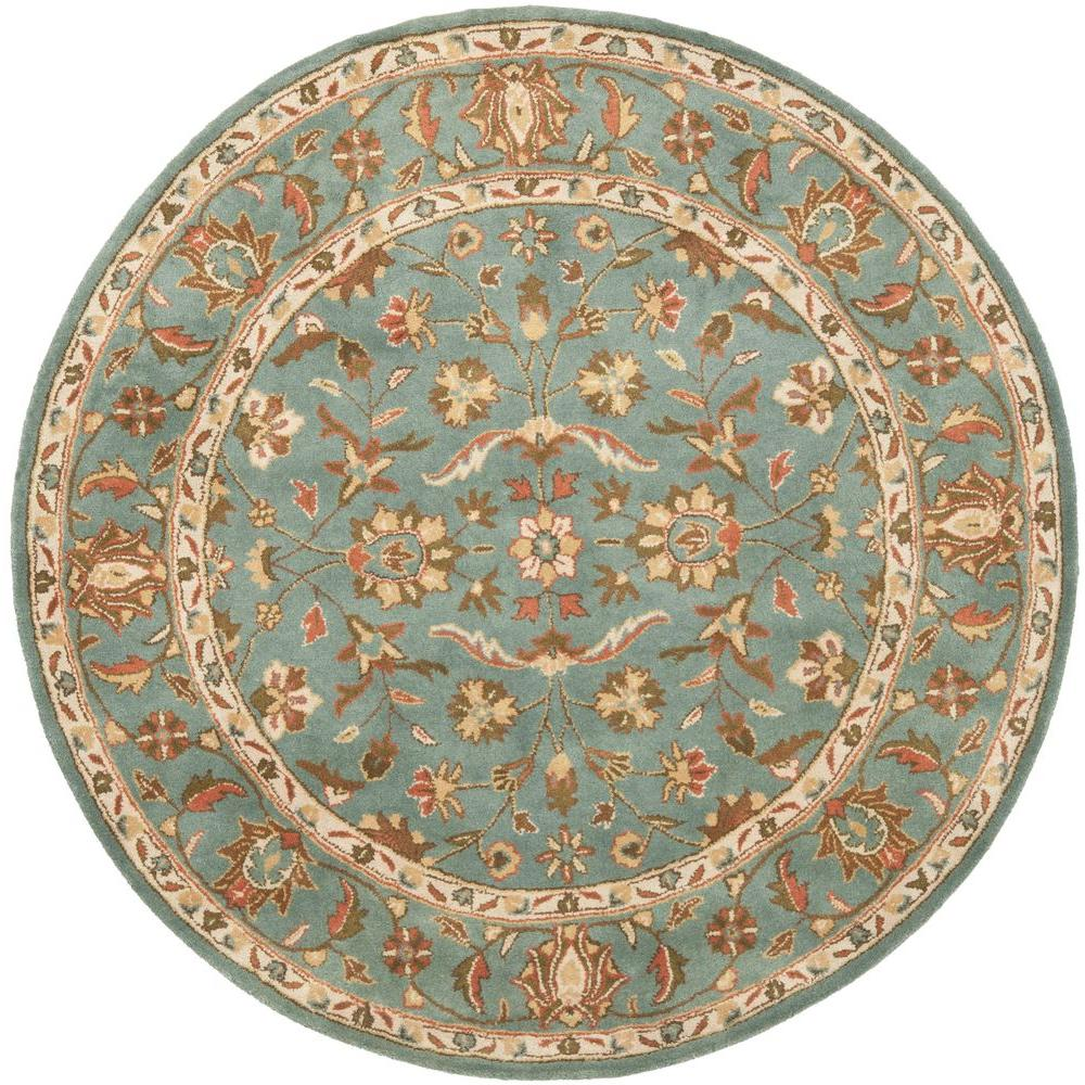 Safavieh Heritage Blue 8 Ft X 8 Ft Round Area Rug Hg969a