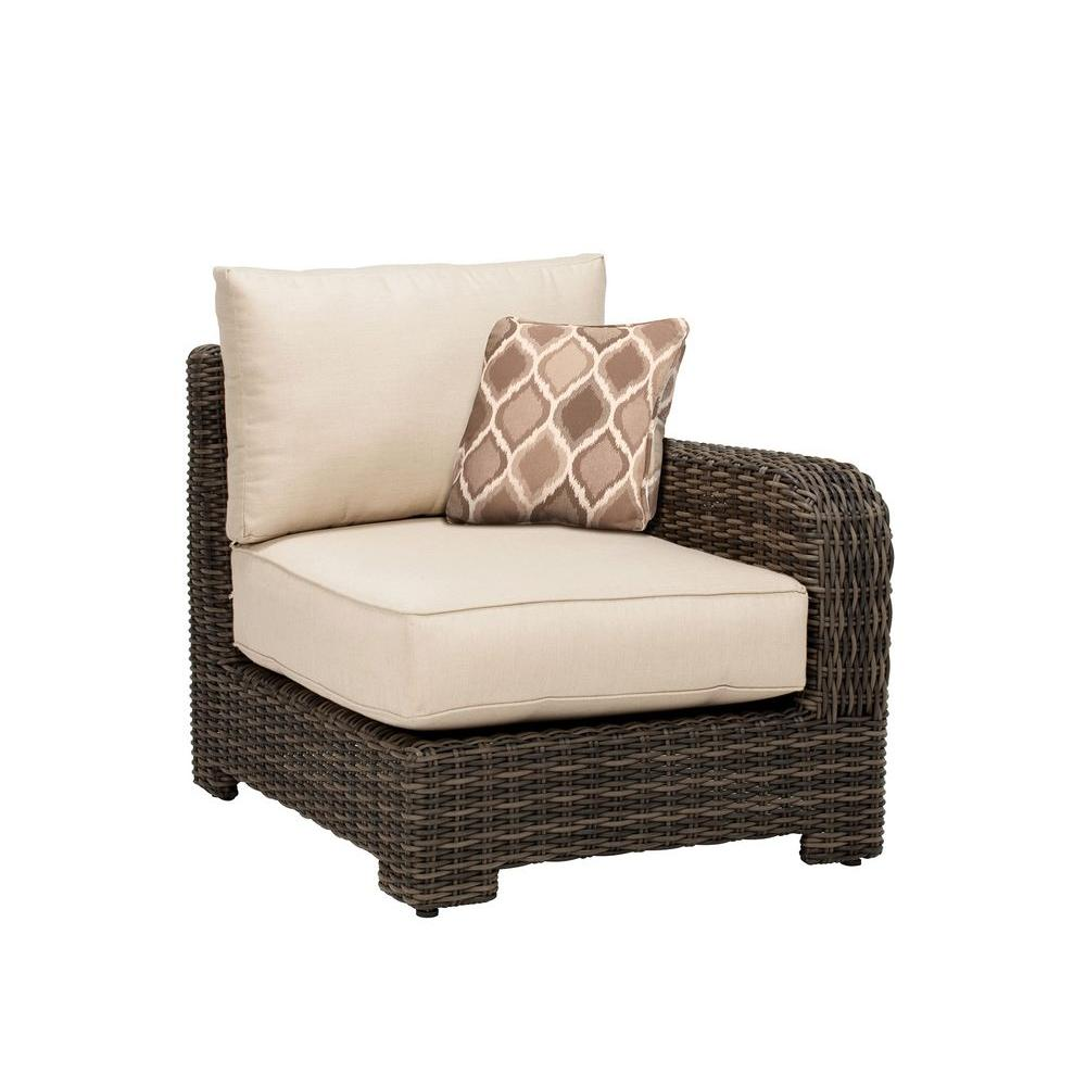 Northshore Right Arm Patio Sectional Chair with Sparrow Cushion and Empire