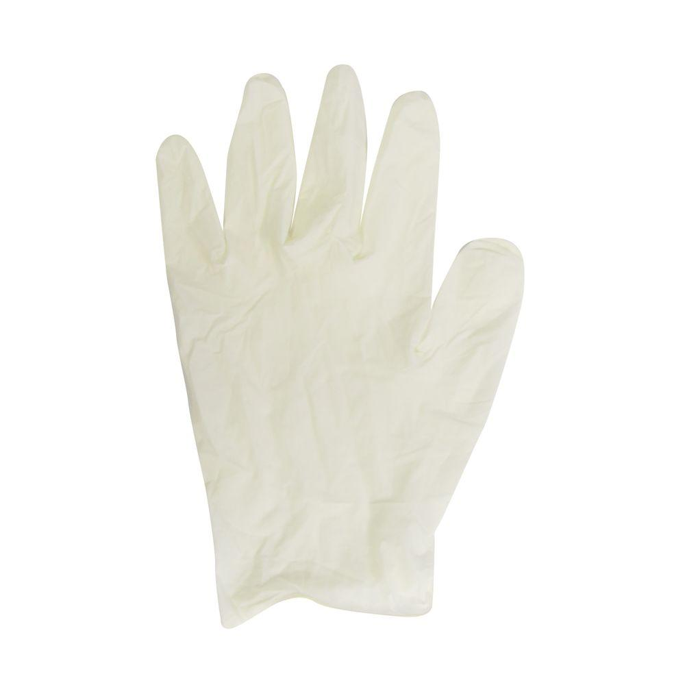 100-Count Extra Large White Latex Gloves in Dispenser Box