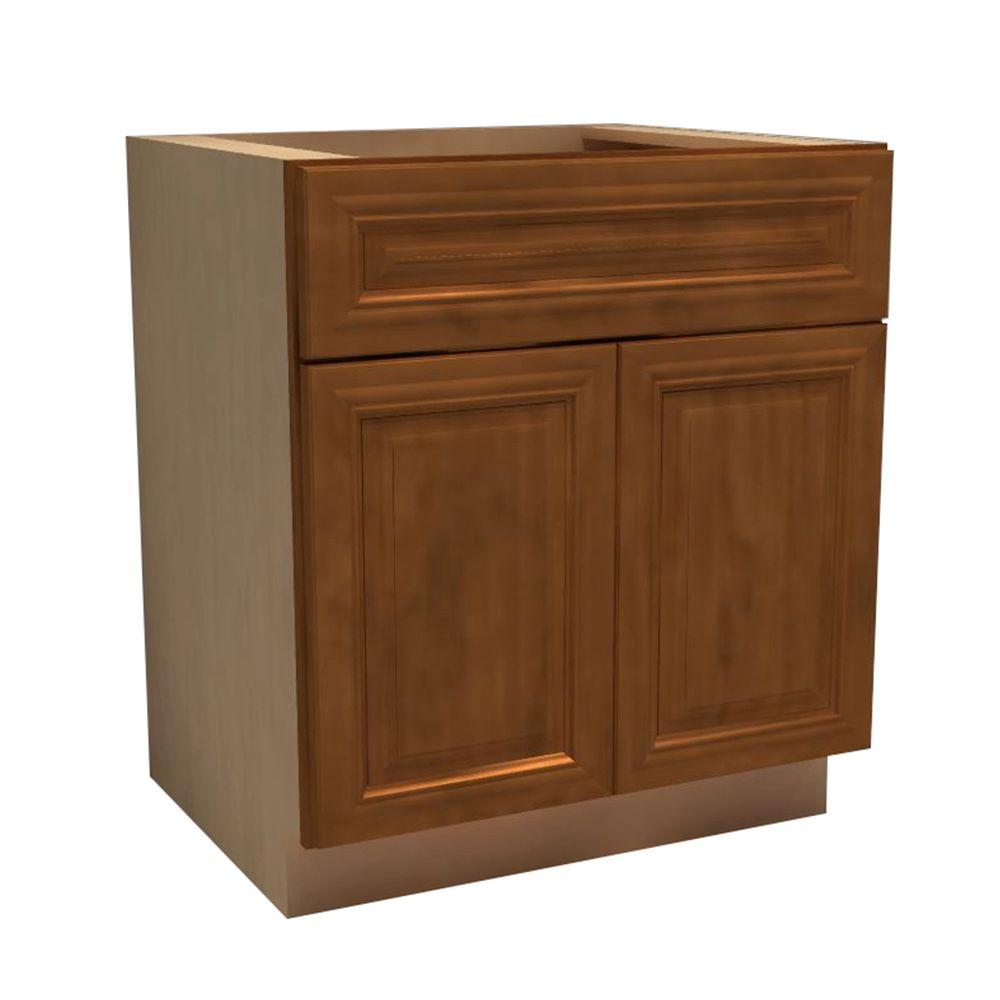 Home Decorators Collection Clevedon Assembled In Double Door Drawer Base Vanity