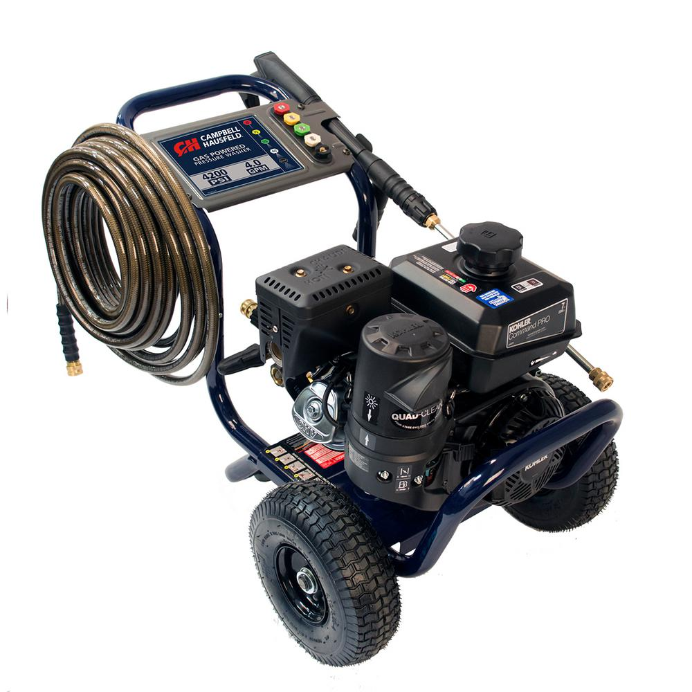 Pressure Washer, 4200 PSI 4.0 Max GPM, Commercial Gas Kohler Engine