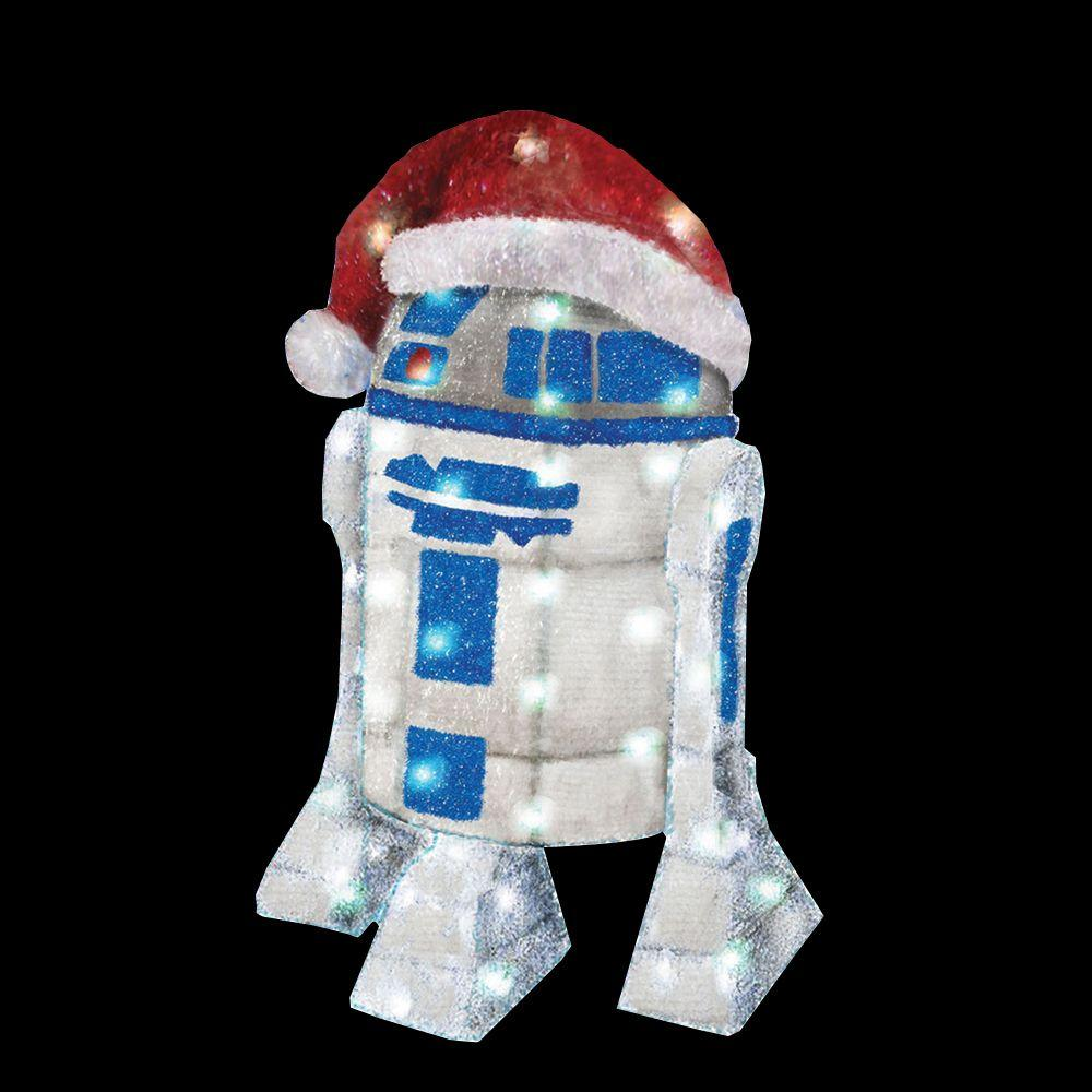 Kurt s adler 28 in star wars r2d2 yard decor zhdusw9133 for Home depot christmas decorations for the yard