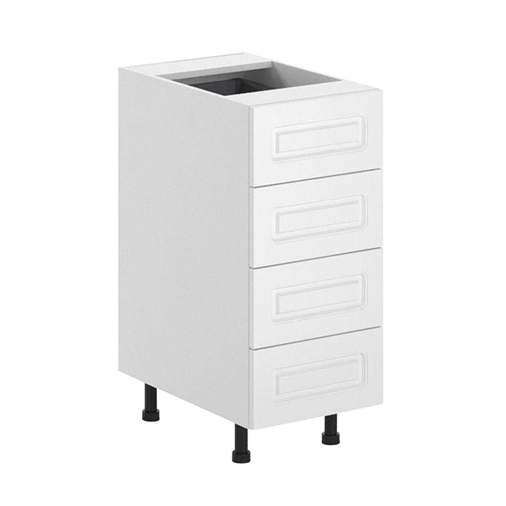 Fabritec Ready to Assemble 15x34.5x24.5 in. Lausanne 4-Drawer Base Cabinet in