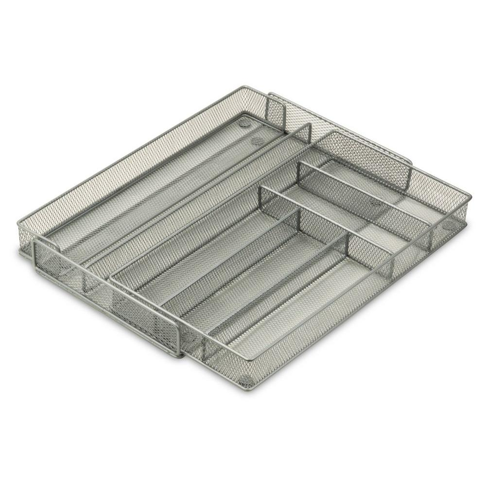 20.25 in. L x 2 in. H Steel Mesh Expandable Cutlery Tray Organizer