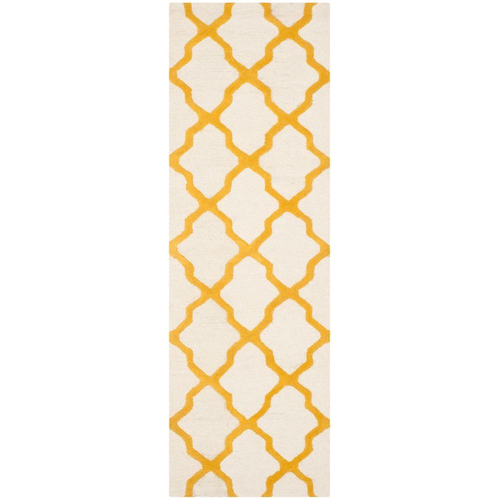 Cambridge Ivory/Gold 2 ft. 6 in. x 10 ft. Runner