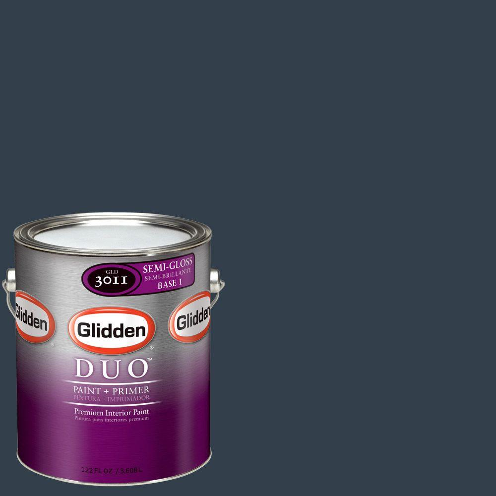 Glidden Team Colors 1-gal. #NFL-047A NFL Houston Texans Midnight Navy Semi-Gloss Interior Paint and Primer