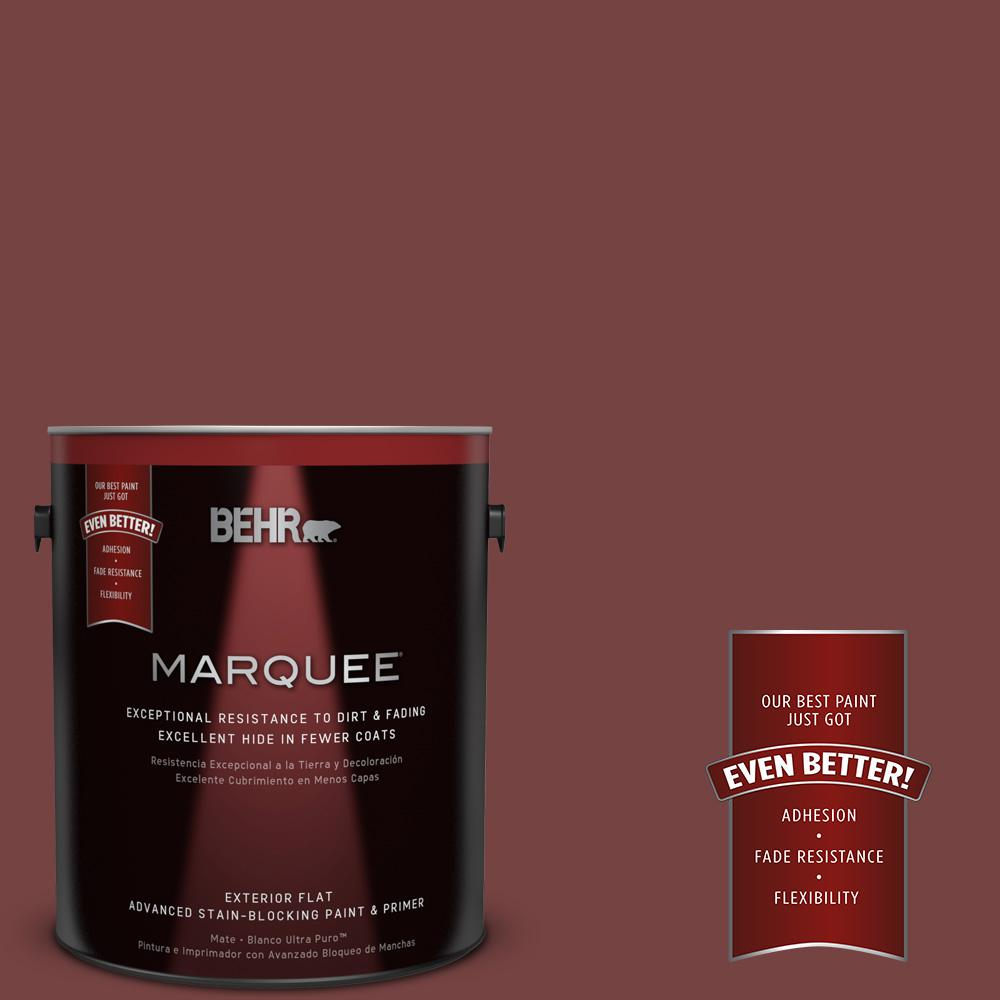 1-gal. #S130-7 Cherry Cola Flat Exterior Paint
