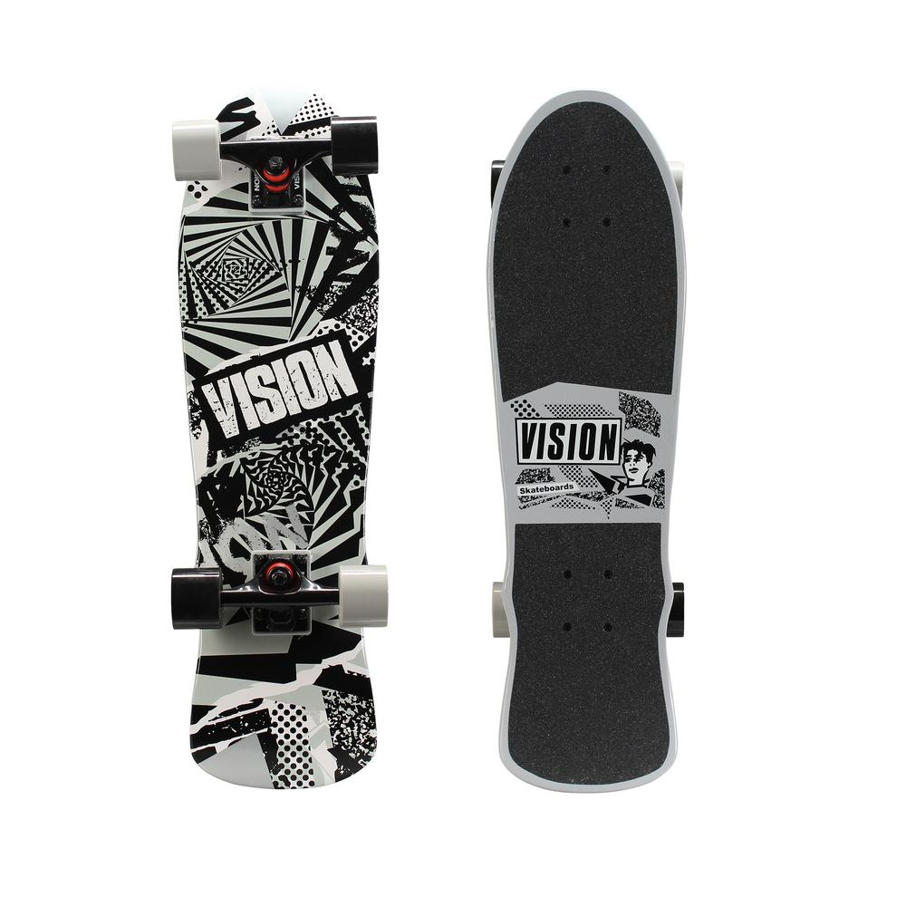 Vision 28 In Mini Cruiser Skateboard Twisted Graphic