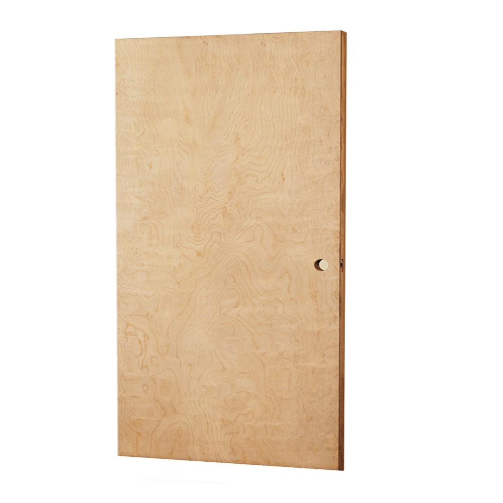 L i f industries 32 in x 79 in smooth flush birch solid core wood interior door slab wsb2868r for Solid wood interior doors home depot