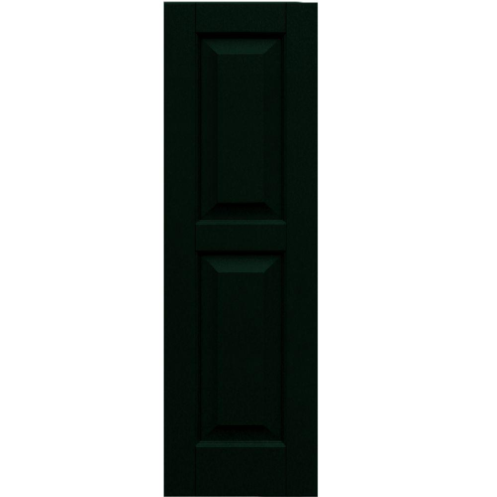 Winworks Wood Composite 12 in. x 39 in. Raised Panel Shutters Pair #654 Rookwood Shutter Green